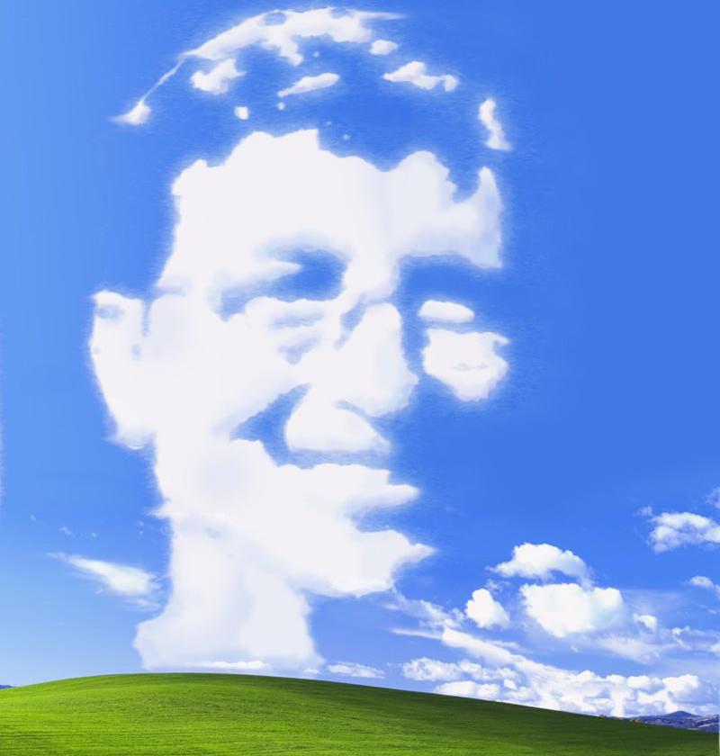 Nube con la cara de Bill Gates